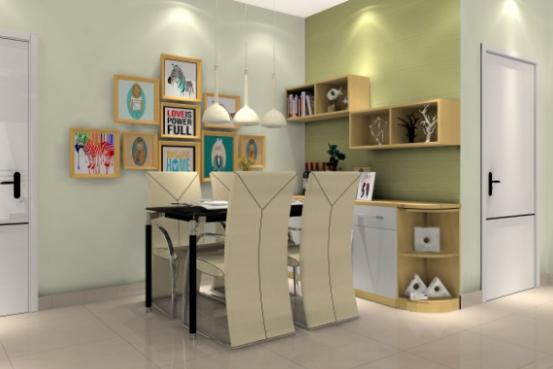 餐厅是居室中相对独立的一个空间,是家庭用餐的主要场所,空间布局上可以与客厅相连,也可以与厨房相连。现代装修中,大部分家庭开始重视对餐厅的设计,例如用一些软装来进行空间的划分,同时也起到很好的装饰作用。 ??? 组合餐边柜型  黄白的典雅搭配,椅子采用白色布艺质材料,搭配黄白色搭配的餐边柜!