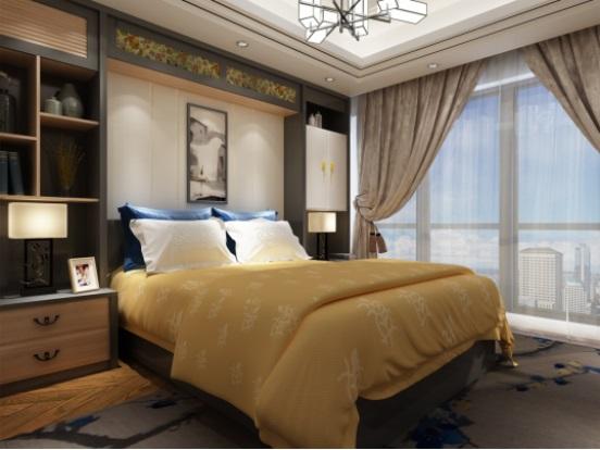合理地利用长方形卧室的空间,是可以把长方形卧室设计