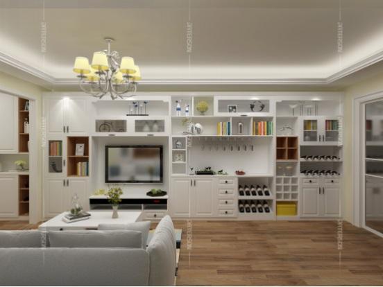 """酒柜一般设计都在餐厅里,但是越来越多的业主开始选择把家里的酒柜""""搬"""