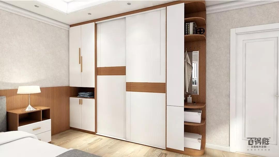 衣柜移门与床头柜统一风格,简洁大气.质朴气息扑面而来,优雅又耐看.