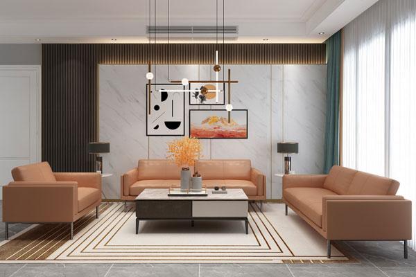 现代轻奢|真皮沙发